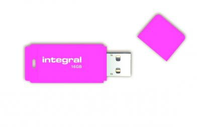 Cle USB 2.0 Integral Neon 16Go Rose