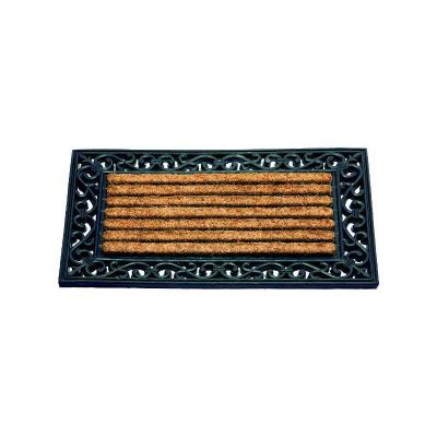 ID MAT Tapis Coral en coco forme rectangle 45 x 75 cm