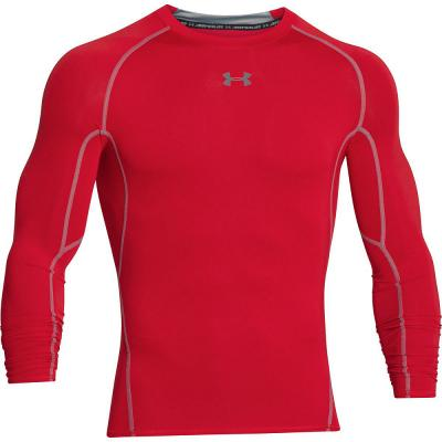 Under Armour T-shirt à manches longues HeatGear Homme - Red, Red