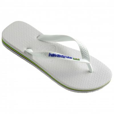 Tongs Havaianas Brasil Logo Blanches Taille 35/36
