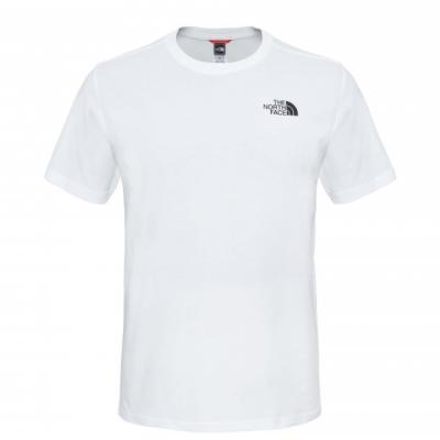 T-shirt droit en coton logo Blanc The North Face
