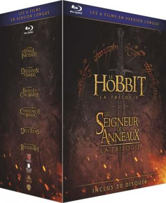 Coffret Middle Earth Extended Edition Light 6 films Blu-ray