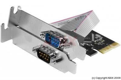 Carte Pci-Express 1X - 2 Ports Serie Rs232 Low Profile