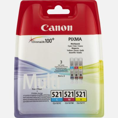 CANON CLI-521 Multipack 3 couleurs