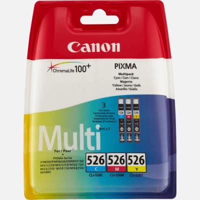 CANON CLI-526 Multipack 3 couleurs