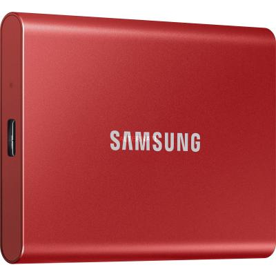 Samsung T7 Rouge métallique - 1 To - USB 3.2 Gen 2