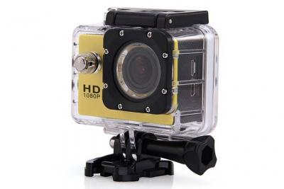Cam´ra sport ?tanche 30m cam´ra action Full HD 1080p 12MP Jaune