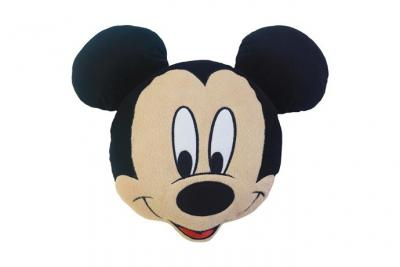 Coussin tête mickey new smile 100% polyester