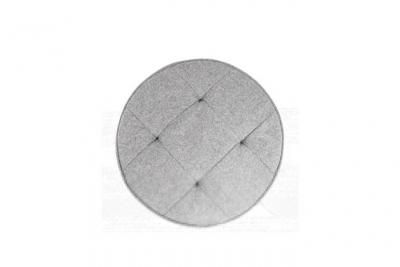Declikdeco Coussin Rond Gris Clair Inoue