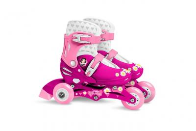 Disney patins à roulettes ajustables Princess girls rose