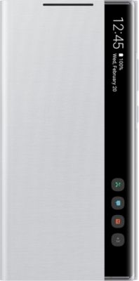 Etui Clear View  blanc Note20 Ultra