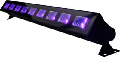 IBIZA LED-UVBAR Barre à LED UV 9x3W