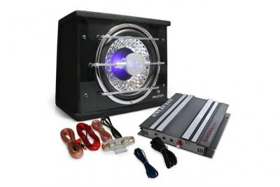 "ELECTRONIC STAR Set Hifi Auto """"Platin Line 100"""" Subwoofer ampli voiture 1200W"