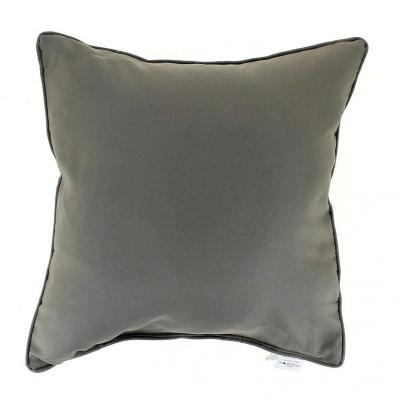 Coussin passepoil 60 x 60 cm taupe