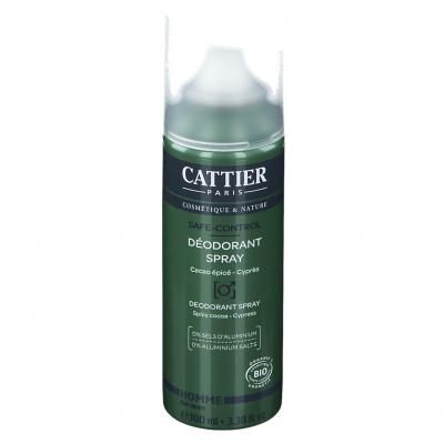 Cattier Homme Déodorant spray safe-control